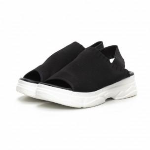 Дамски черни сандали тип чорап. Размер 39/38