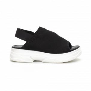 Дамски черни сандали тип чорап. Размер 39/38 39  2