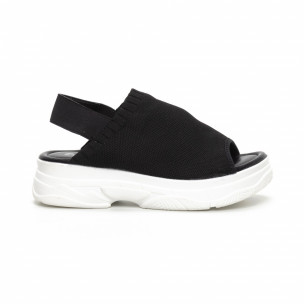 Дамски черни сандали тип чорап. Размер 39/38  2