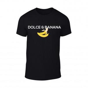 Мъжка черна тениска Dolce & Banana