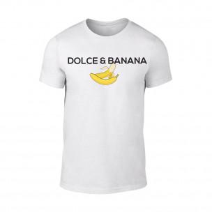 Мъжка бяла тениска Dolce & Banana