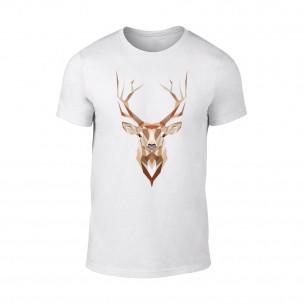Мъжка бяла тениска Deer