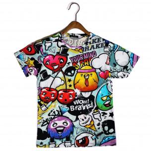 Мъжка тениска с комикси Yourmind