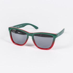 Traveler огледални очила зелено-червена рамка