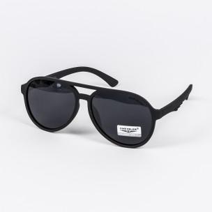 Слънчеви очила масивна рамка бъбрек черен мат