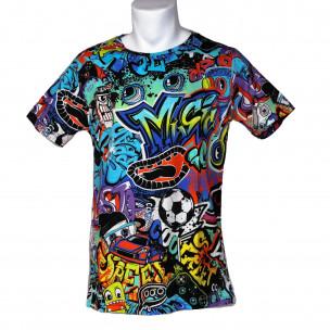 Мъжка тениска с комикси Graffiti Made in Italy