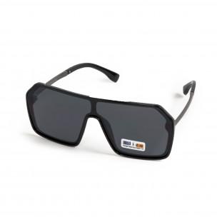 Черни очила тип маска Hexagon 2