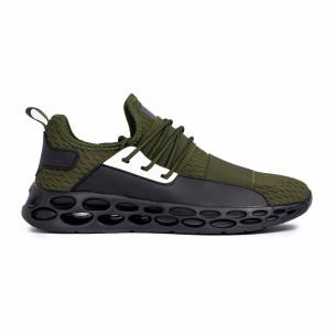 Мъжки зелени маратонки с ластици