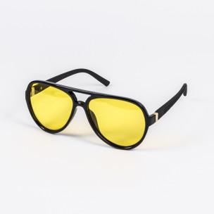 Жълти слънчеви очила масивна рамка бъбрек Polar Drive
