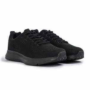 Плетени мъжки маратонки All black 2