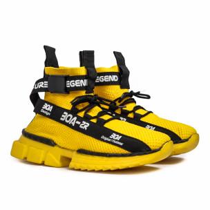 Мъжки жълти маратонки чорап Cubic  2