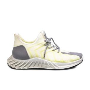 Мъжки бели маратонки жълт меланж