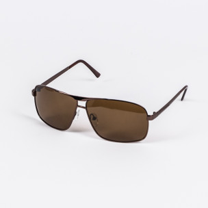 Кафяви слънчеви очила метална рамка