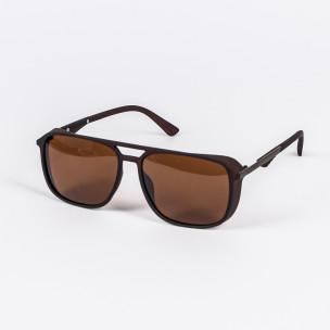 Трапецовидни слънчеви очила в кафяво