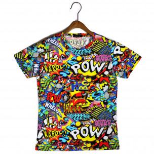 Мъжка тениска с комикси Pow