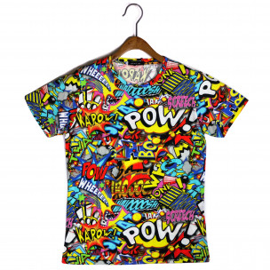 Мъжка тениска с комикси Pow  2