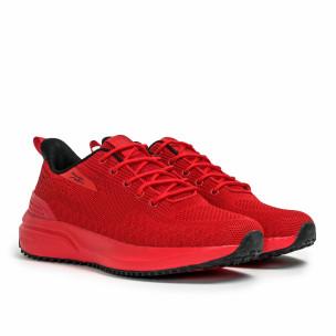 Текстурирани мъжки маратонки в червено  2