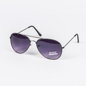 Пилотски слънчеви очила черни опушени