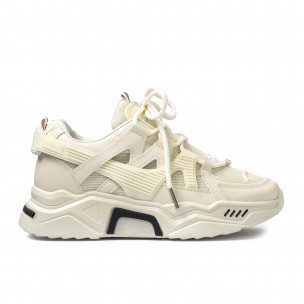 Chunky дамски маратонки цвят екрю Sweet Shoes
