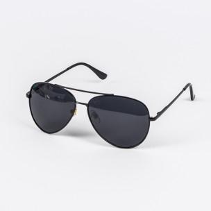 Basic пилотски слънчеви очила в черно