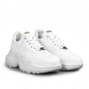 Мъжки бели маратонки Chunky All white Knack 2