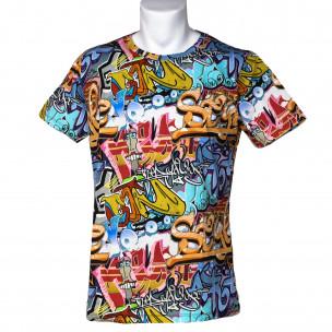 Мъжка тениска с комикси Style Made in Italy