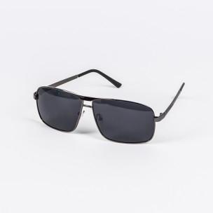 Черни слънчеви очила метална рамка Aedoll