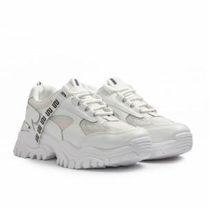 Chunky бели маратонки с декорация Maira 2