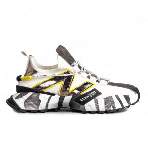 Slip-on white & metallic мъжки маратонки