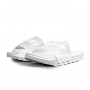 Чехли със силиконова лента в бяло  2