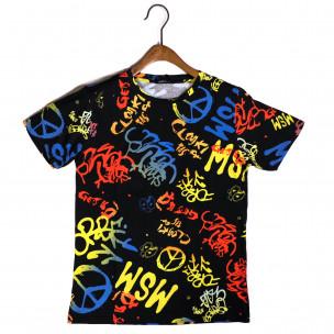 Мъжка тениска с комикси Hippy