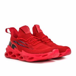 Мъжки червени маратонки Chevron  2