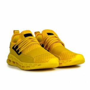 Мъжки жълти маратонки с ластици  2