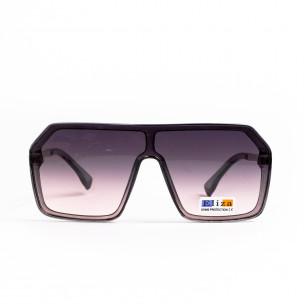 Кафяви опушени очила тип маска Hexagon