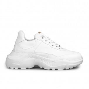 Мъжки бели маратонки Chunky All white
