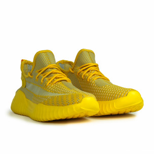 Мъжки еластични маратонки в жълто  2