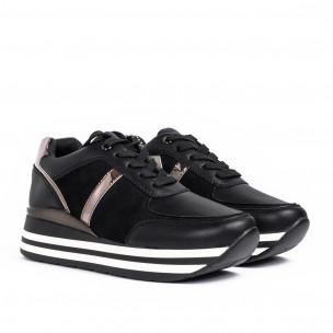 Дамски комбинирани маратонки в черно Martin Pescatore 2