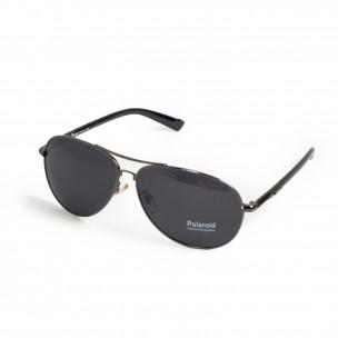 Пилотски слънчеви очила сива метална рамка 2
