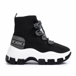 Chunky маратонки чорап в черно и сиво