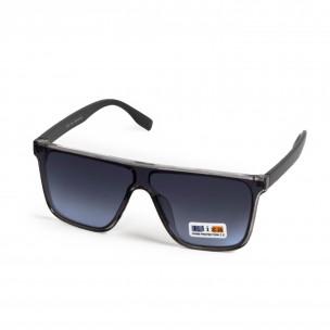 Трапецовидни сини опушени очила тип маска 2