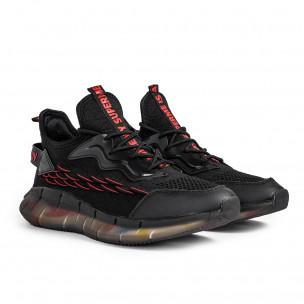 Мъжки черни маратонки със силиконова подметка Sport 2