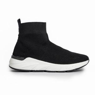 Черни дамски маратонки тип чорап