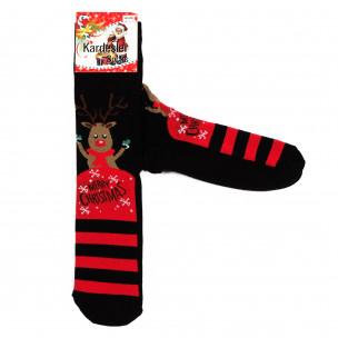 Мъжки черни коледни чорапи