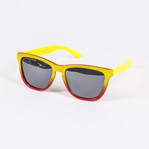 Traveler огледални очила жълто-червена рамка