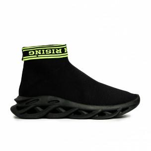 Мъжки черни маратонки Rogue тип чорап 2