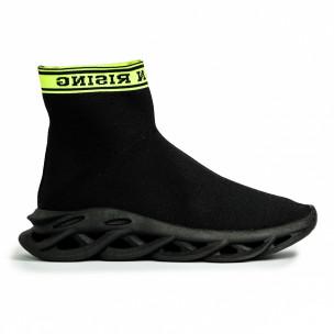Мъжки черни маратонки Rogue тип чорап