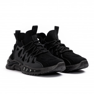 Мъжки маратонки чорап в черно  2