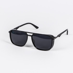 Трапецовидни слънчеви очила в черно
