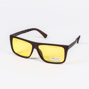 Квадратни матирани слънчеви очила жълти Polar Drive