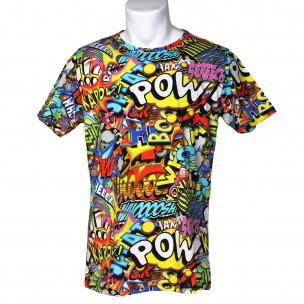 Мъжка тениска с комикси Pow Made in Italy